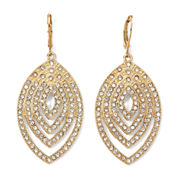 Monet® Crystal and Gold-Tone Earrings