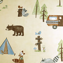 Saturday Knight Camping Critters Shower Curtain