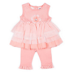 Little Lass Gw 2-pc. Layette Set-Baby Girls