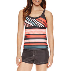 ZeroXposur® Stripe Tankini Swimsuit Top or Board Short