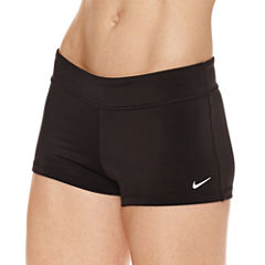 Nike Solid Boyshort Swimsuit Bottom