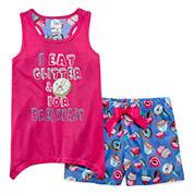 Starride Kids Girls Shorts Pajama Set-Big Kid