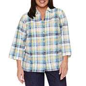 Alfred Dunner Long Sleeve Button-Front Shirt-Plus