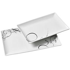 Tabletops Gallery® Pescara 2-pc. Rectangular Platter Set