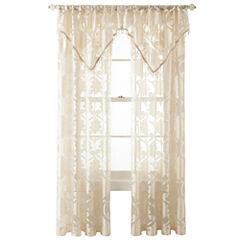 Royal Velvet® Belgravia Rod-Pocket Sheer Curtain Panel