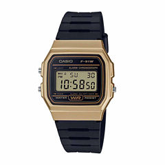Casio Mens Black Strap Watch-F91wm-9a