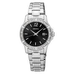Seiko Womens Silver Tone Bracelet Watch-Sur719