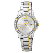 Seiko Womens Two Tone Bracelet Watch-Sur718
