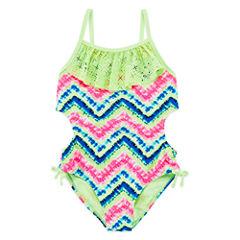 Angel Beach Solid Monokini Big Kid Girls