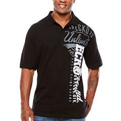 Ecko Unltd Short Sleeve Logo Knit Polo Shirt Big and Tall
