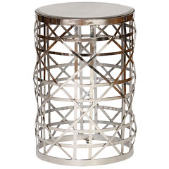 Drum Chairside Table