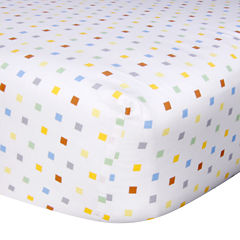 Trend Lab® Mini Squares Fitted Crib Sheet