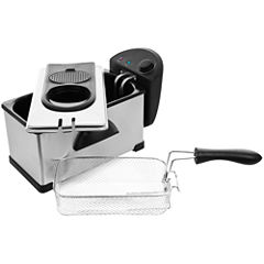 Chef Buddy™ 3.2-qt. Stainless Steel Electric Deep Fryer
