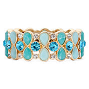 Monet® Blue Stretch Gold-Tone Bracelet