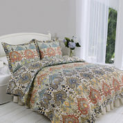 Genoa Hand-Pieced Reversible 3-pc. Quilt Set