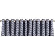 Sun Zero™ Cadiz Chevron Grommet-Top Lined Valance