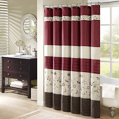 Madison Park Belle Embroidered Shower Curtain