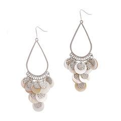 EL by Erica Lyons El By Erica Lyons Silver Over Brass Chandelier Earrings
