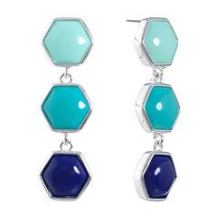 Liz Claiborne Blue Drop Earrings