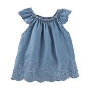 Oshkosh Short Sleeve Shirt-Baby Girls