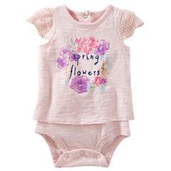 Oshkosh Short Sleeve Bodysuit -Baby Girls