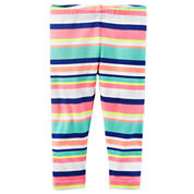 Carter's Stripe Knit Leggings - Preschool Girls