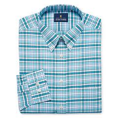 Stafford Travel Wrinkle-Free Oxford Long Sleeve Dress Shirt