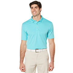 PGA TOUR Short Sleeve Airflux Solid Polo- Big & Tall
