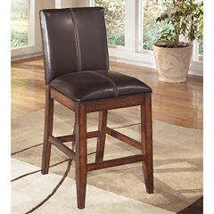 Signature Design By Ashley® Larchmont Set of 2 Counter Height Upholstered Barstools