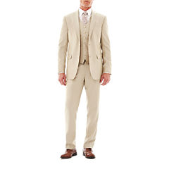 JF J. Ferrar® Khaki Shimmer Suit Separates - Slim Fit