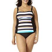 St. John's Bay® Striped Tankini Swim Top or Swim Bottoms - Plus