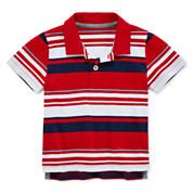 Arizona Short-Sleeve Striped Polo - Baby Boys 3m-24m