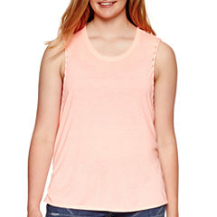Arizona Solid Muscle Tank Top - Juniors Plus