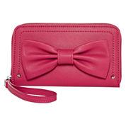 Lulu™ Bow Zip-Around Wallet with Wristlet