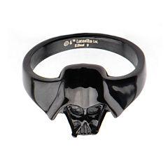 Star Wars® Black IP Stainless Steel Darth Vader 3D Ring