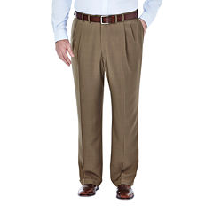 Haggar® eCLo™ Stria Classic-Fit Pleated Dress Pants - Big & Tall