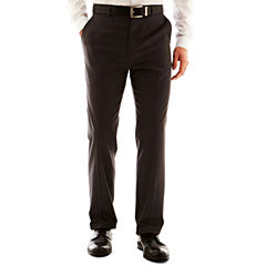JF J. Ferrar® Solid Flat–Front Pants–Big & Tall