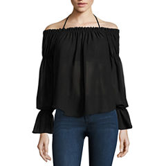 Buffalo Jeans Tie Neck Off The Shoulder Top
