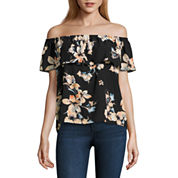 i jeans by Buffalo Ruffle Off The Shoulder Top