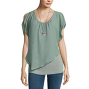 Alyx Asymmetrical Top with Neck Lace