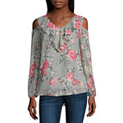 Alyx Cold Shoulder Ruffle Top