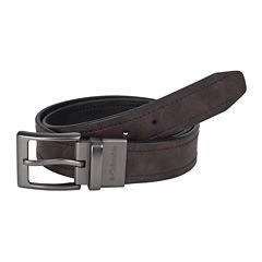 Columbia® Brown Reversible Belt w/ Logo Buckle–Big & Tall