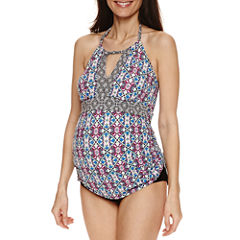 a.n.a Pattern Tankini Swimsuit Top or Hipster Bottom-Maternity