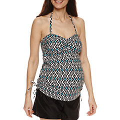 a.n.a Diamond Tankini Swimsuit Top-Maternity