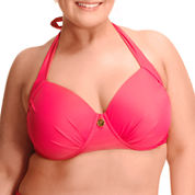 Paramour Solid Halter Swimsuit Top-Plus