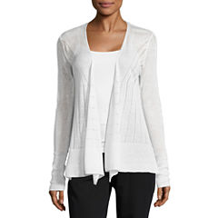 Worthington Long Sleeve Y Neck Cardigan