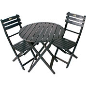 Wood Outdoor Folding Bistro Set