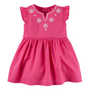 Carter's® Flutter-Sleeve Pink Dress - Baby Girls newborn-24m