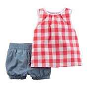 Carter's® Plaid Gingham Top and Pants Set - Baby Girls newborn-24m