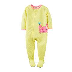 Carter's® Long-Sleeve 1-Piece Footed Pajamas - Baby Girls newborn-24m
